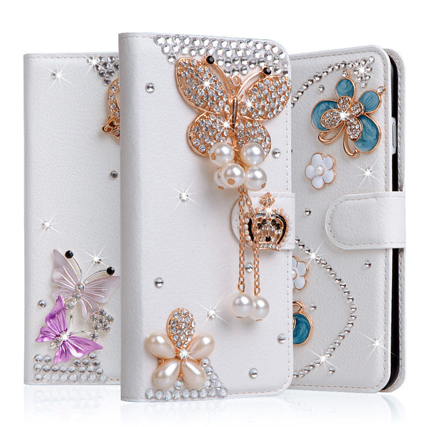 Diamond Bowknot Flower Case for iPhone 5C