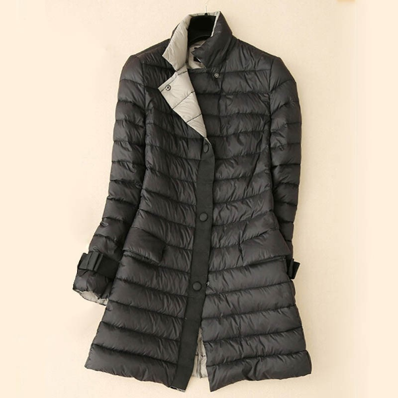 Women's winter coat long feather Down coat jacket - Stylished Shop