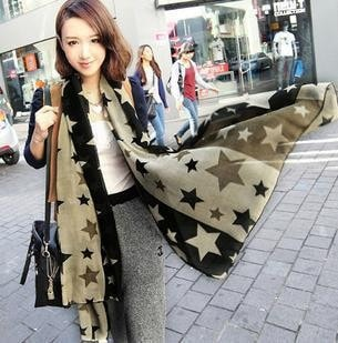 Stars Chiffon scarves for Women