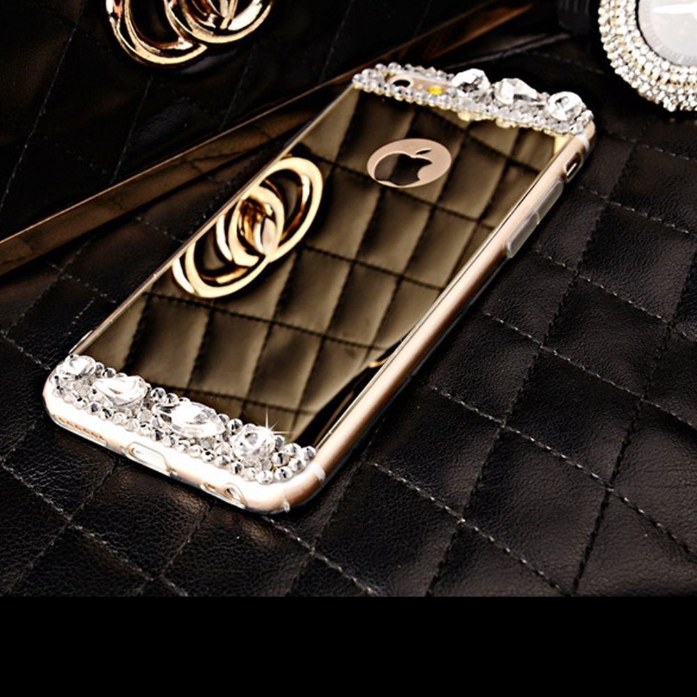Gold / Silver Diamond Bling iPhone Case For iPhone SE 5 5S 6 6s/ 6 Plus /6s plus