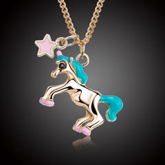 Unicorn Pendant Necklace For Women Gold Silver Plated