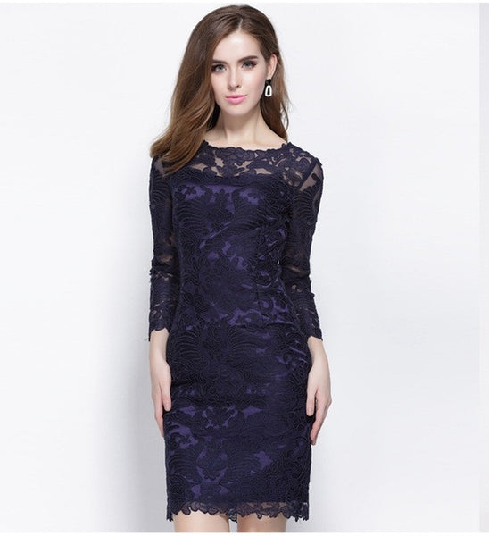 Blue Flower Dress For Women