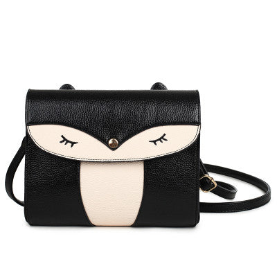 Black Owl Shoulder Bag Handbag Women