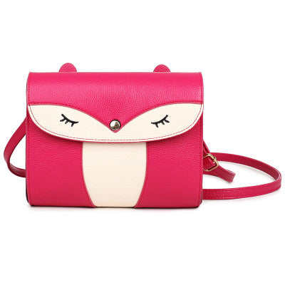 Pink Owl Shoulder Bag Handbag Women