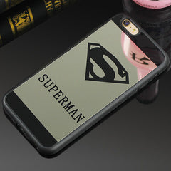 Luxury Superman Superwoman Mirror Surface TPU Case For iPhone