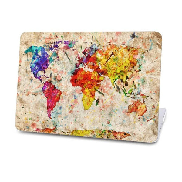 Retro Sailing Map Pattern Hard Case For Macbook
