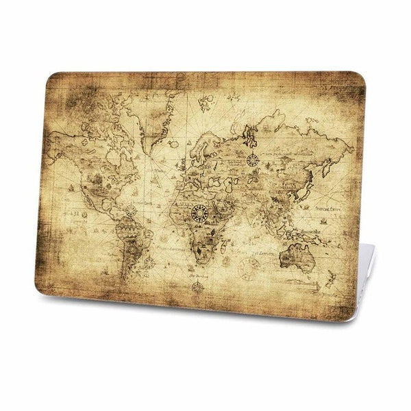 African Style Map Case For Macbook