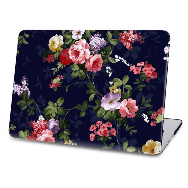 Night Flowers Hard Case For Macbook
