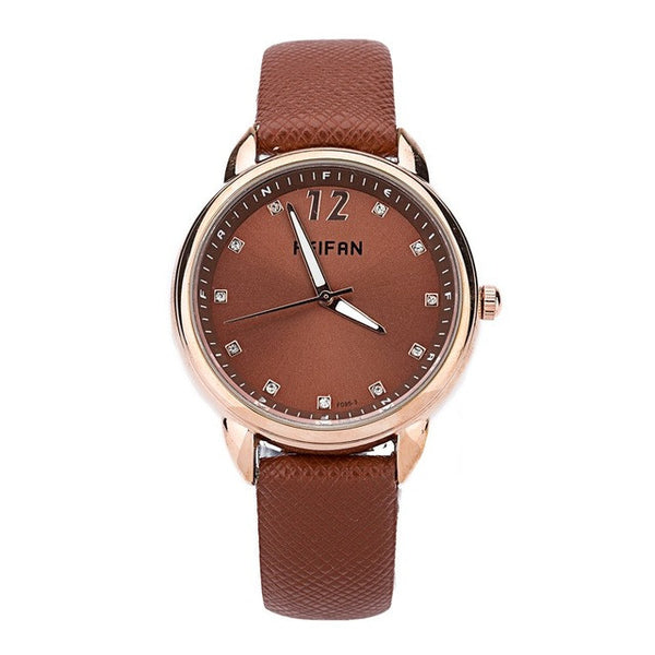 Brown Fashion Quartz Watch for Women