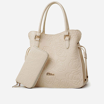 Beige Handbag Shoulder Bag for Women