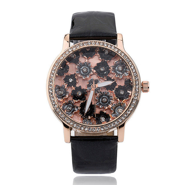 Black Diamond Fashion Quartz Watch for Women