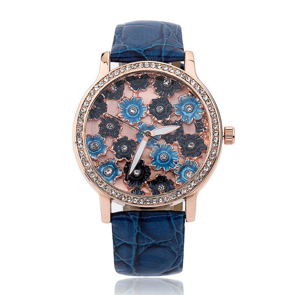 Blue Diamond Fashion Quartz Watch for Women