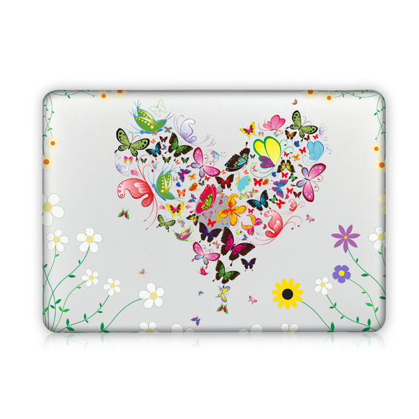 Flower Heart Mac Case