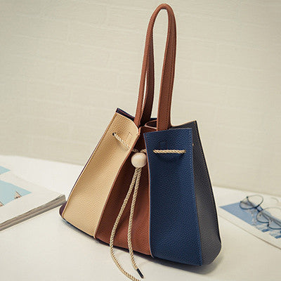 Blue Women Handbag bucket bag