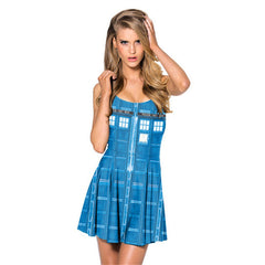Blue Animation Dress for Women