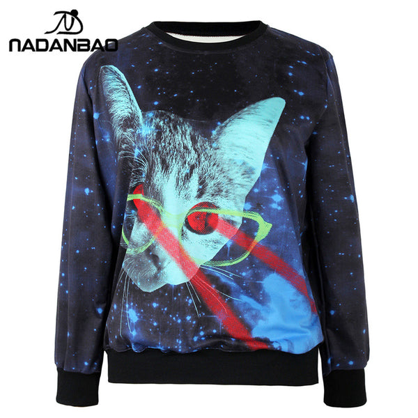 Cat Galaxy Sweatshirt for Women