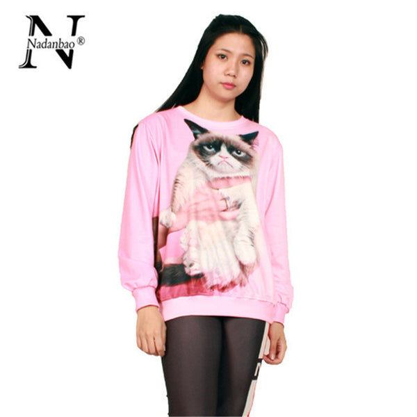 Cat Pink Sweatshirt