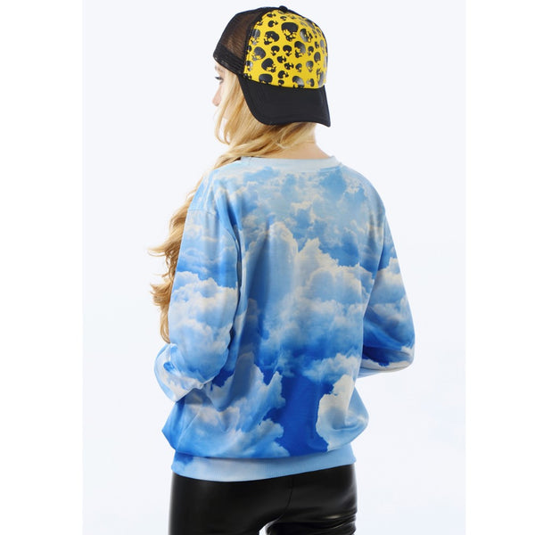 Blue Sky Cloud Sweatshirt for Women