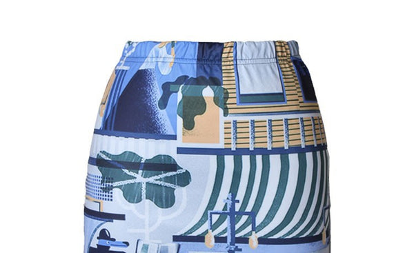 Abstract House Skirt for Women