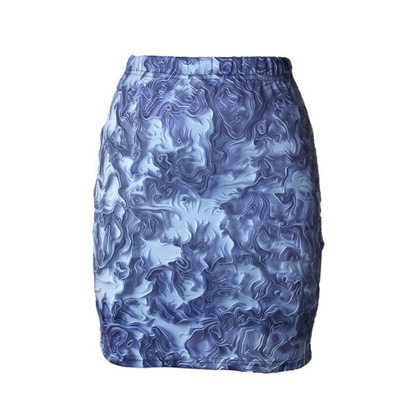 Abstract Style Skirt for Women