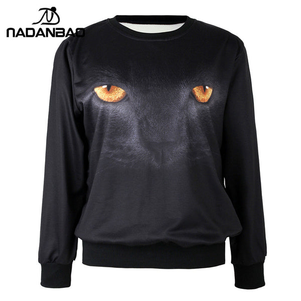 Black Puma Sweatshirt for Women