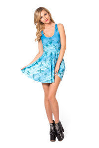 Blue Sky Women Dress Sexy Sleeveless