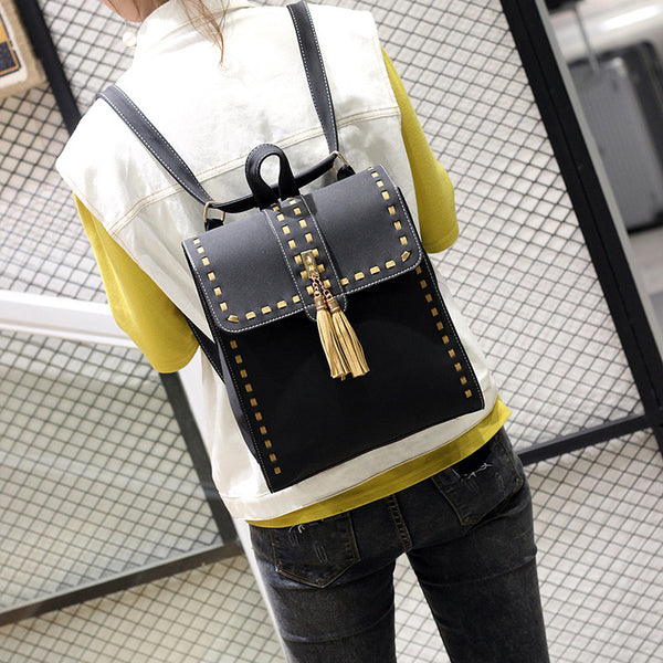 Black Backpack Bag for Women