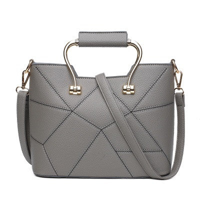 Grey Women Handbag Shoulder Bag
