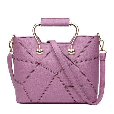Purple Women Handbag Shoulder Bag