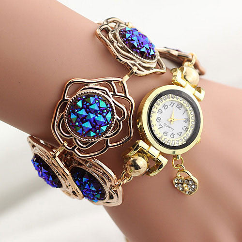 Blue Fashion Quartz Watch Women
