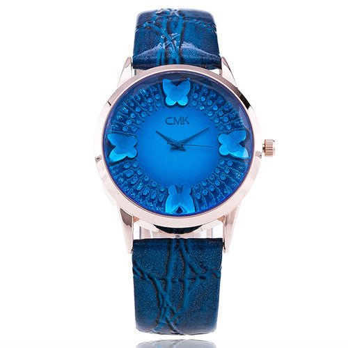 Blue Elegant Wrist Watch for Women