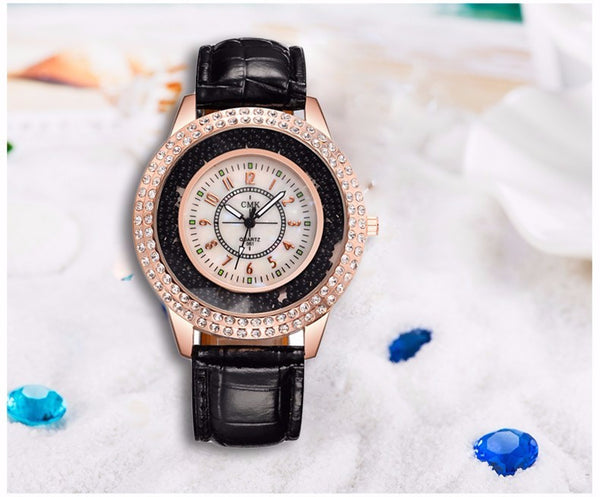Black Elegant Fashion Ladies Wrist Watch for Women