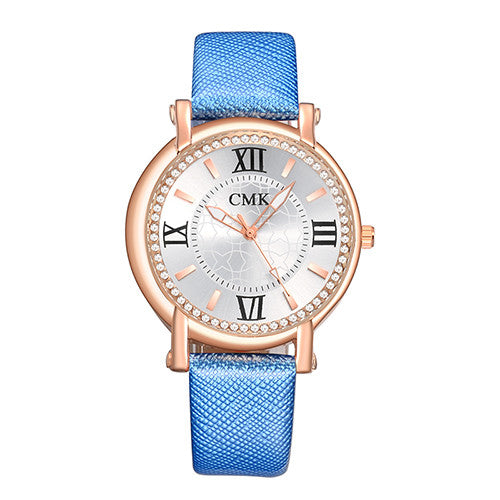 Blue Fashion Wristwatch watch for Women