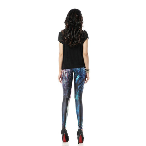 Colorful Mysterious Forest Leggings for Women