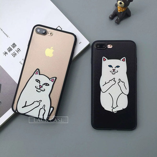 Funny Cartoon Cat Case For iphone 7 iphone7 PLus 6 6S 5 5S - Stylished Shop