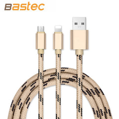 Cable Metal Braided Wire Sync Data Charger Micro USB Cable for iPhone , Xiami