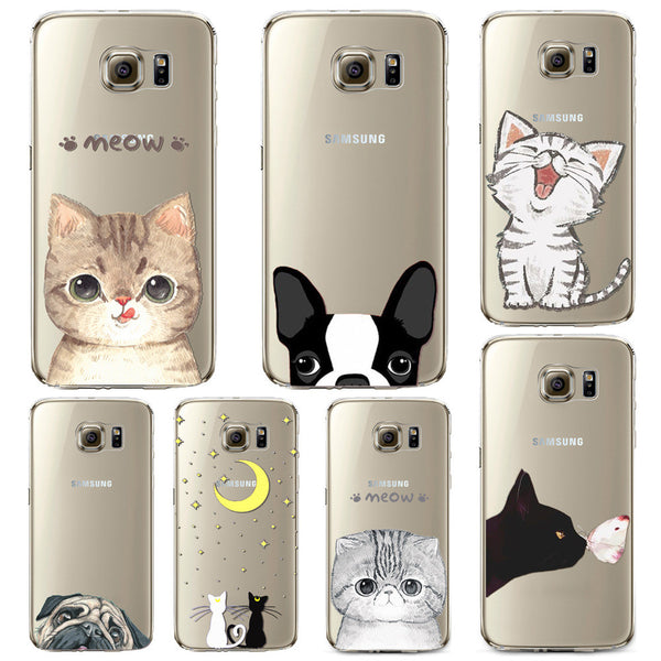Phone Case for Samsung Galaxy S5 S6 S6Edge S6Edge+ Soft TPU Silicon Transparent