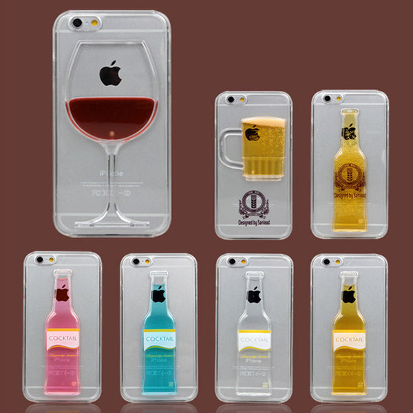 Fashion Liquid Drink Cocktail Clear Cases For iPhone