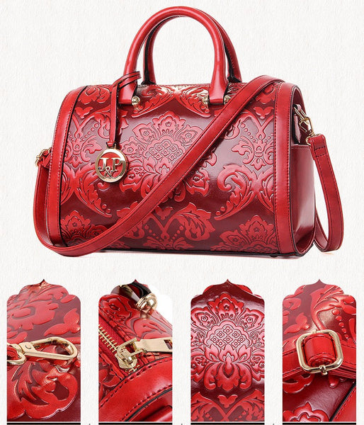 Red Women Handbag Shoulder Candy Bag