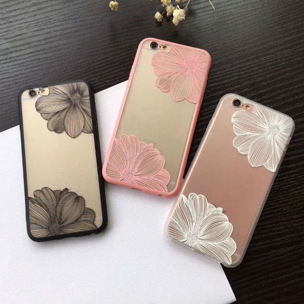 Fashion Engraving Flower Case For iPhone