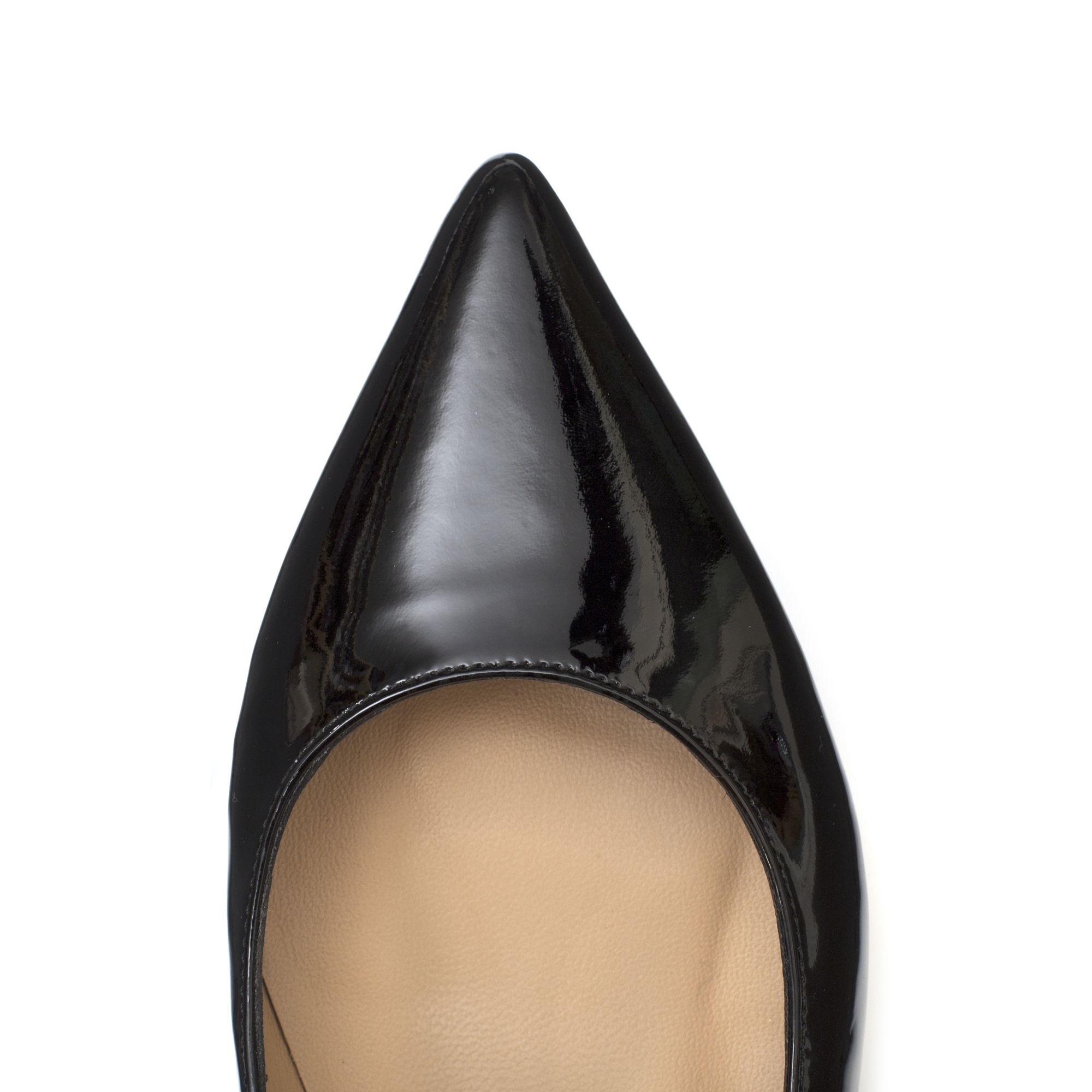 'BLACK 10' Patent Leather Flats