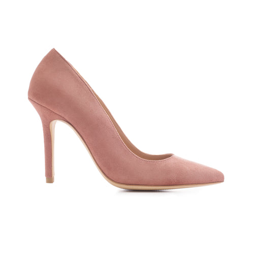 'BLUSH IS OFF THE ROSE 105' Suede Leather Pumps