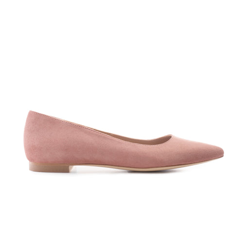 'BLUSH IS OFF THE ROSE 10' Suede Leather Flats