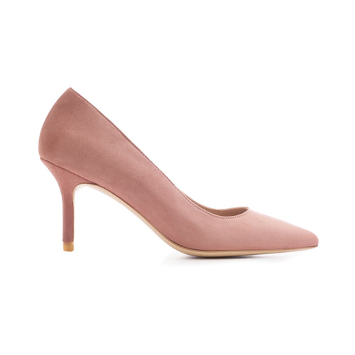 'BLUSH IS OFF THE ROSE 75' Suede Leather Pumps