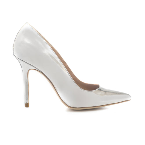 'SILVER 105' Metallic Leather Pumps