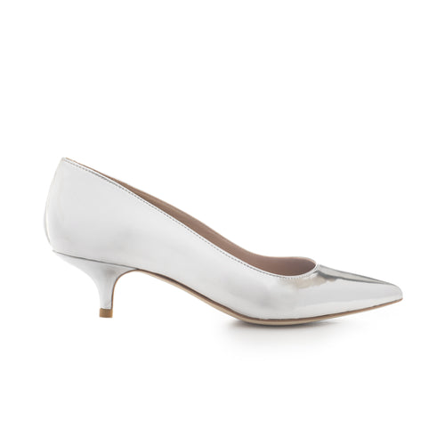 'SILVER 45' Metallic Leather Pumps