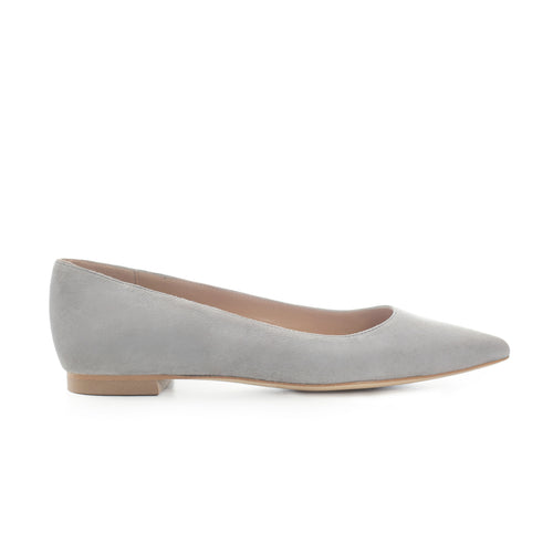 'GREY 10' Suede Leather Flats