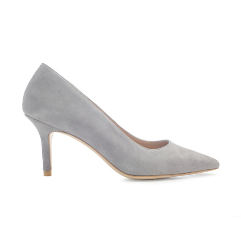 'BLUSH IS OFF THE ROSE 45' Suede Leather Pumps
