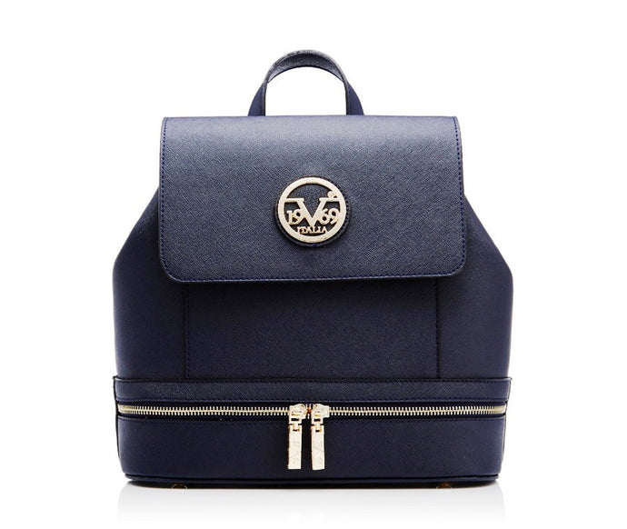 Versace 1969: Navy Zip Pocket Backpack