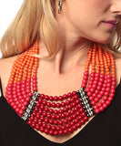 Amrita Singh: Proclamation Coral Beaded Necklace